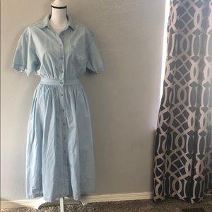 90's Eddie Bauer Chambray Maxi Dress